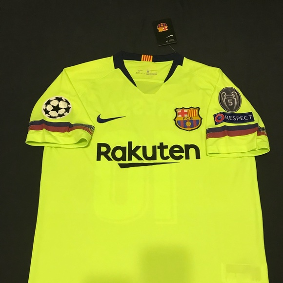 b41b0d2af FC Barcelona Away Jersey 2018 2019 w  UCL patches